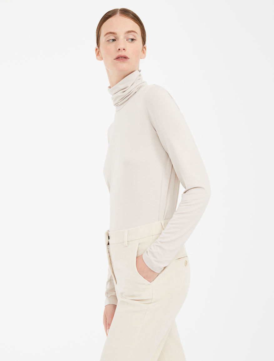 Stretch jersey polo neck jumper Weekend Maxmara