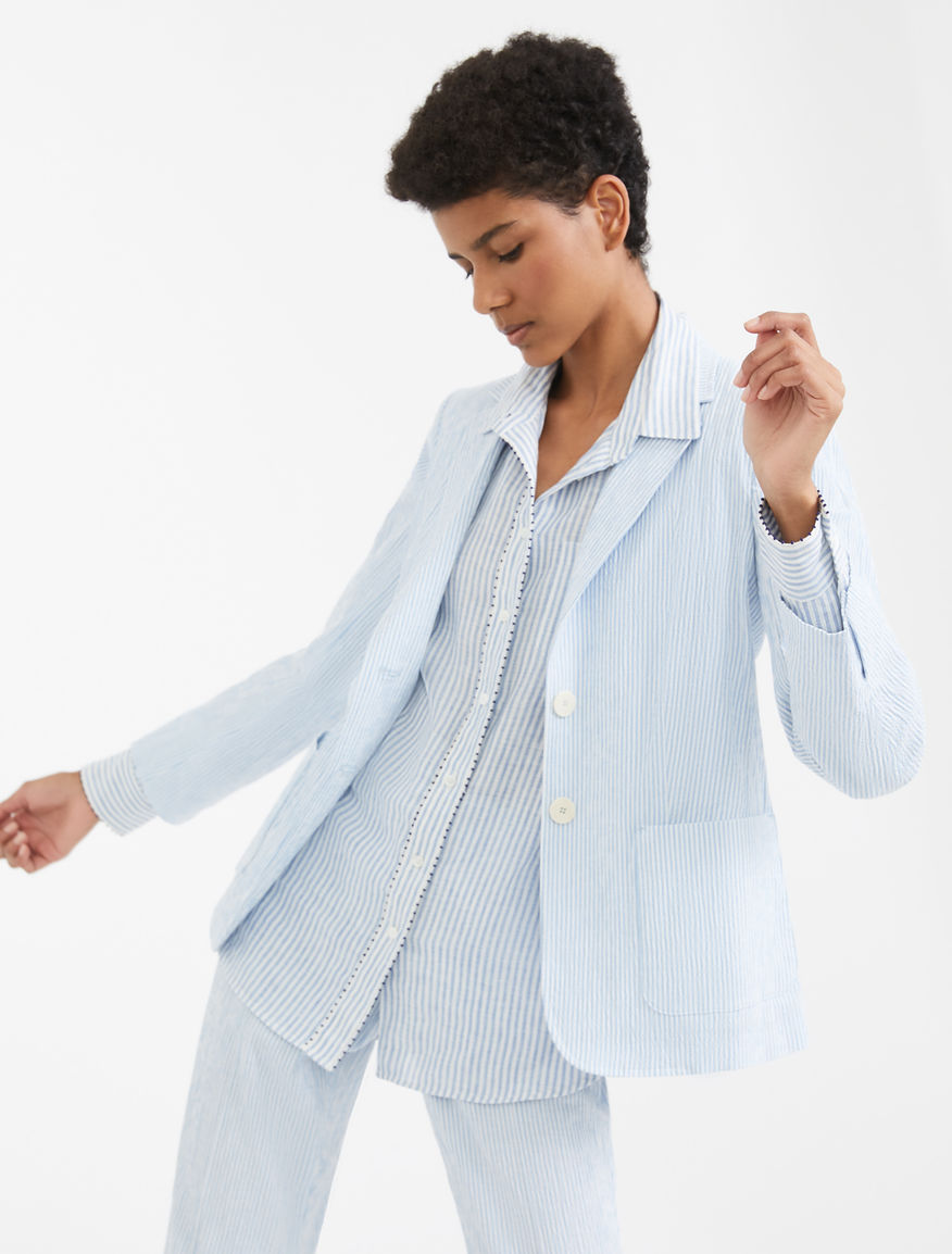 Cotton and linen seersucker blazer Weekend Maxmara