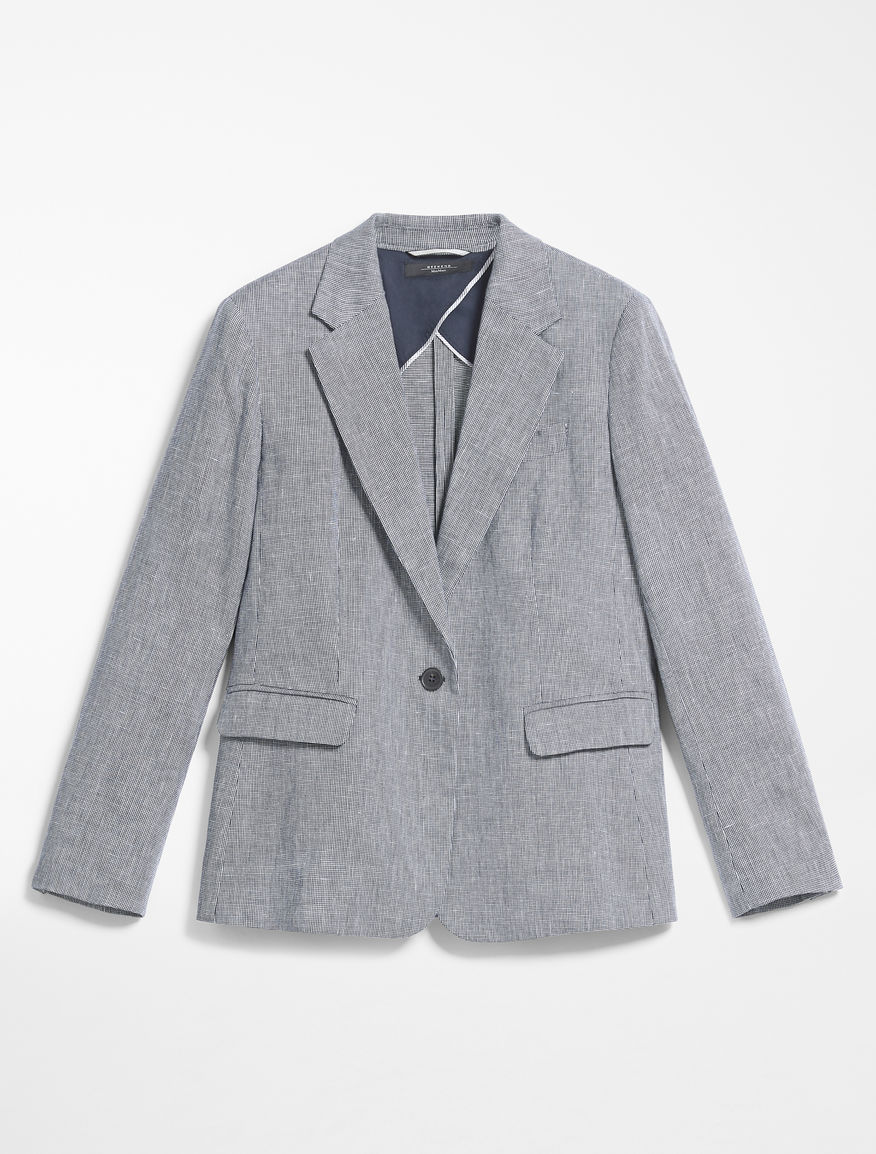 Blazer in woven cotton and linen Weekend Maxmara