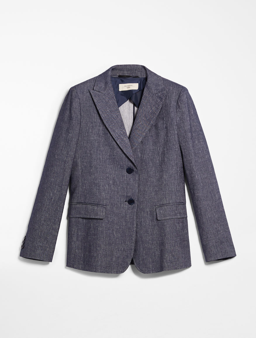 Cotton and linen blazer Weekend Maxmara