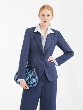 Blazer in canvas di lino Weekend Maxmara