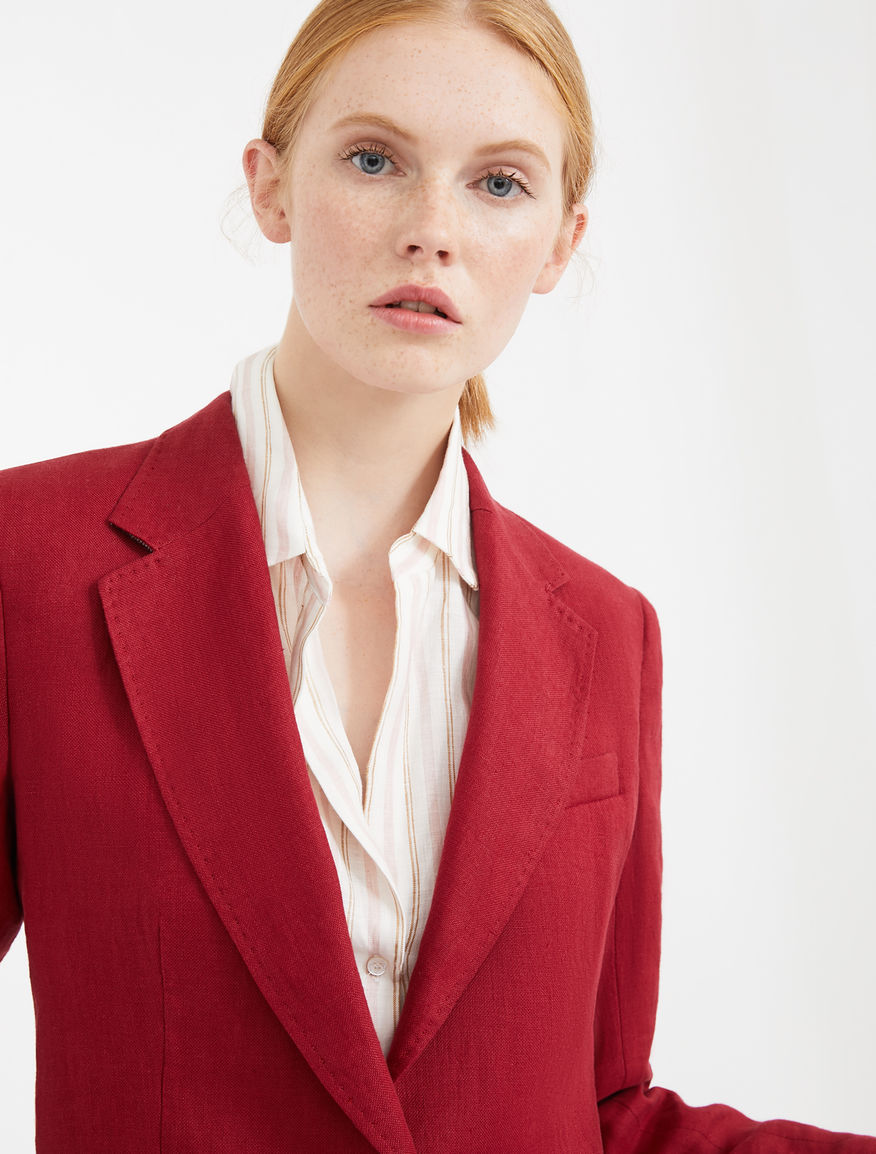 Linen canvas blazer Weekend Maxmara