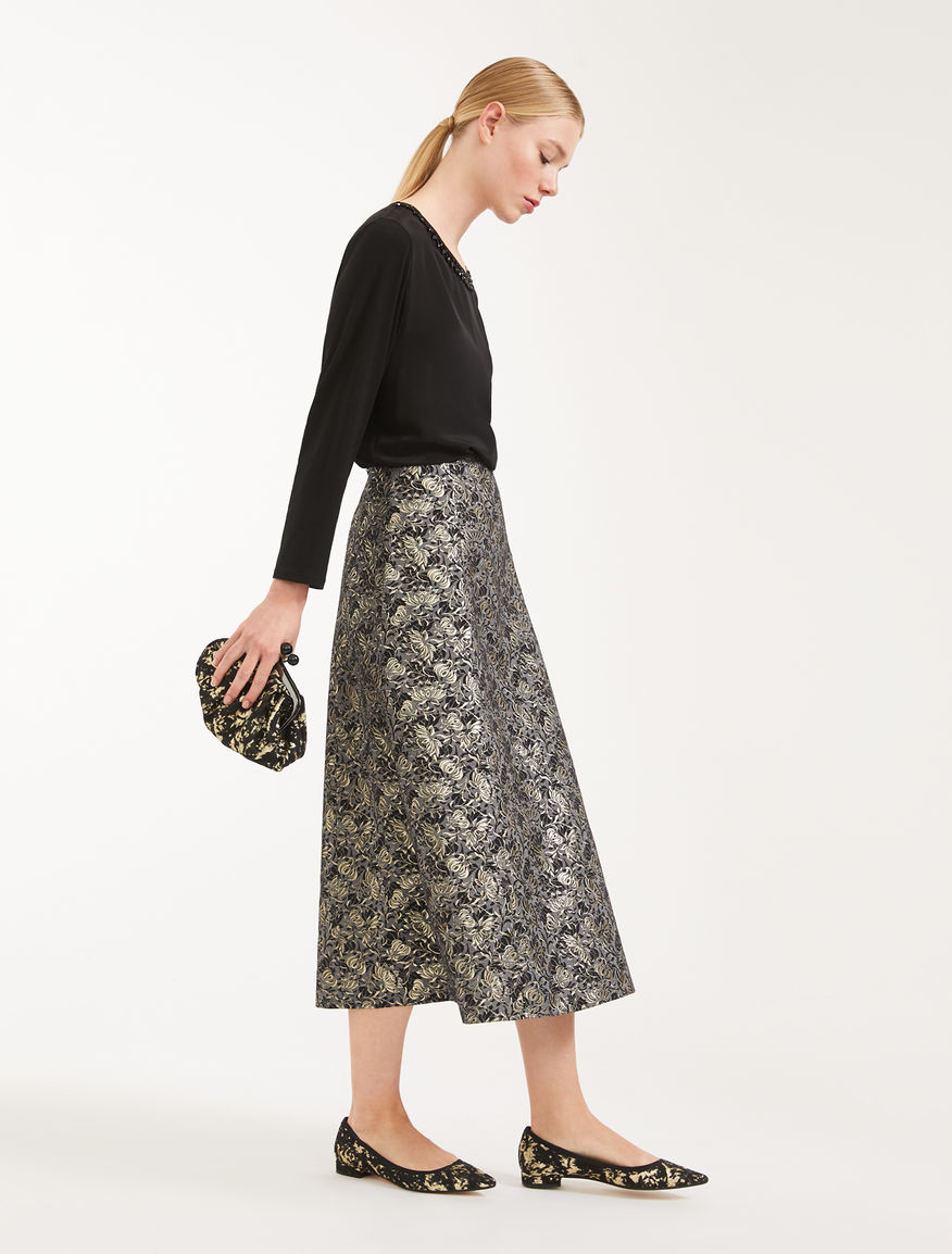 Cotton jacquard skirt Weekend Maxmara