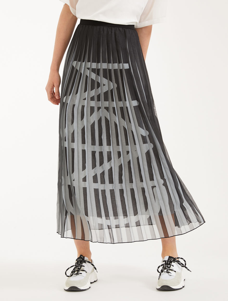 Skirt in chiffon and jersey Weekend Maxmara