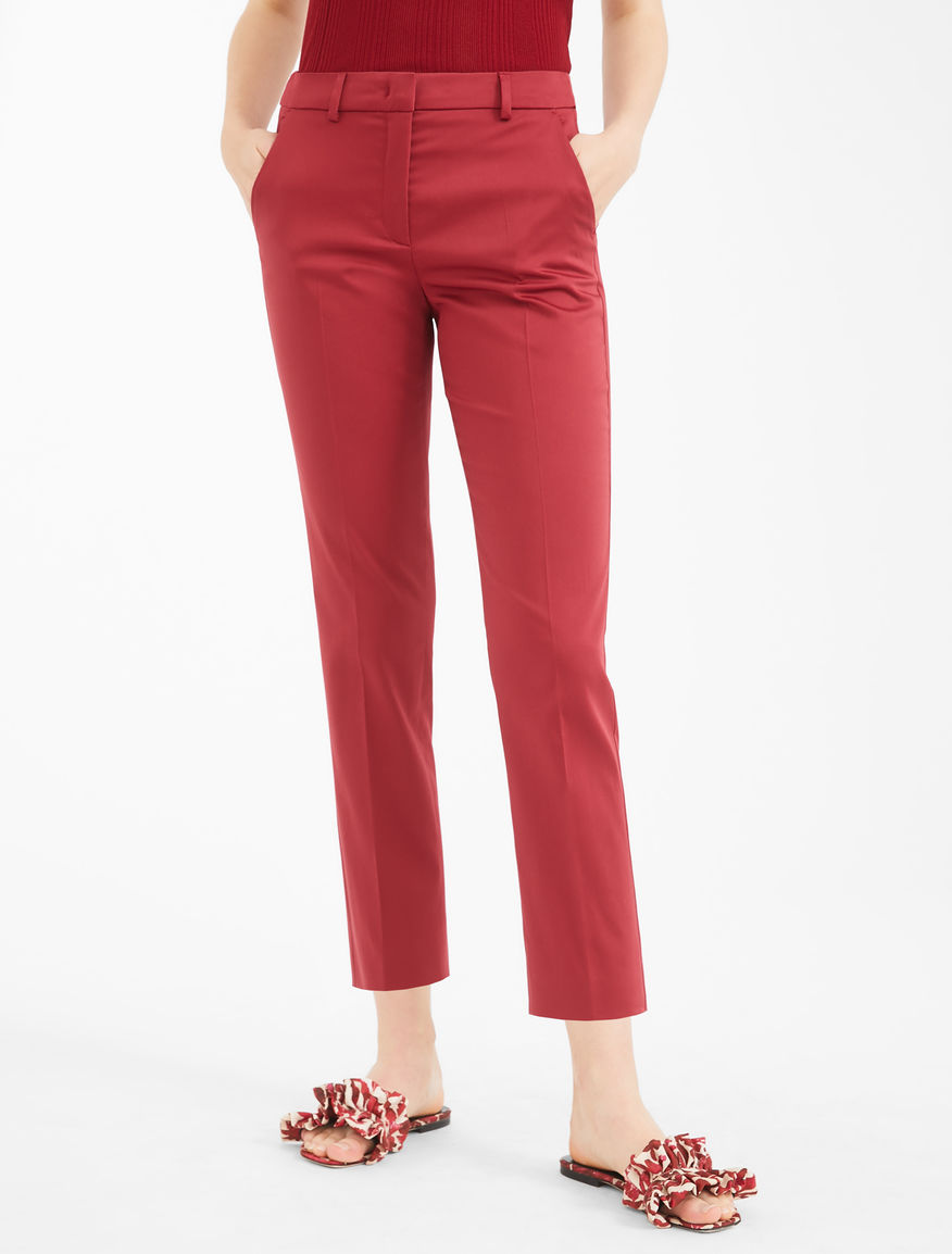 Cotton satin trousers Weekend Maxmara