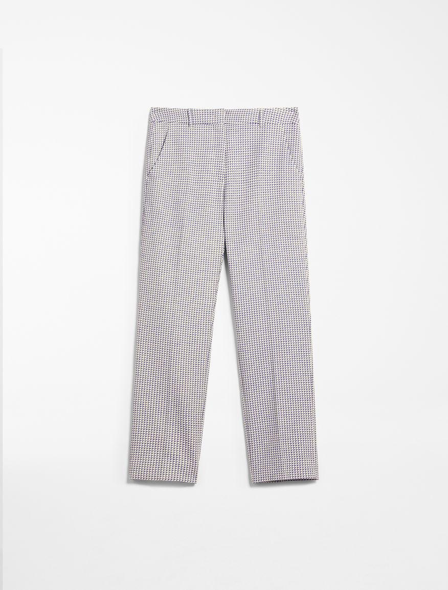 Cotton jacquard trousers Weekend Maxmara