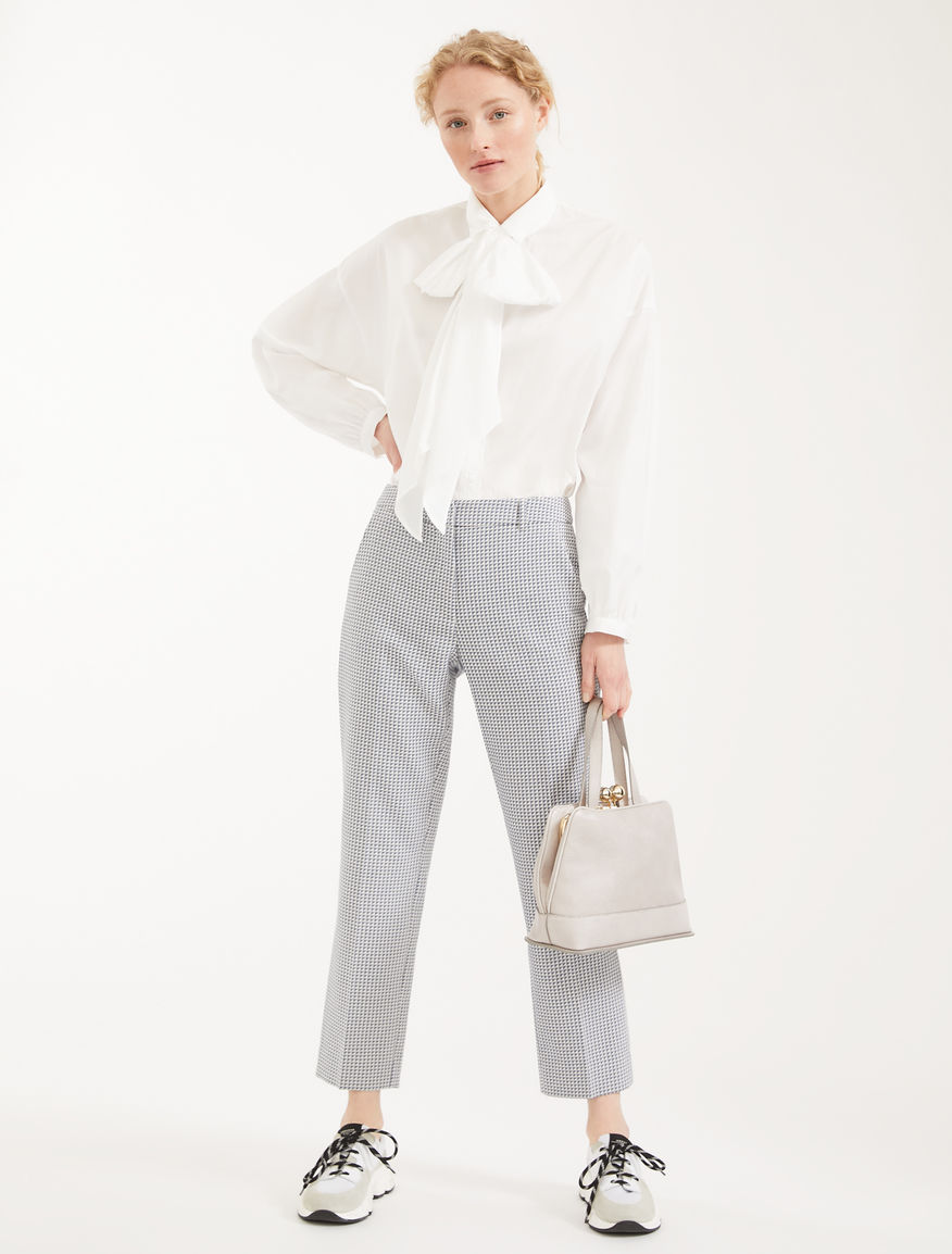 Pantaloni in cotone jacquard Weekend Maxmara
