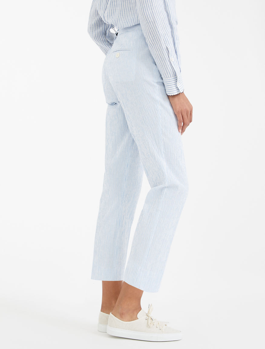 Linen and cotton seersucker trousers Weekend Maxmara