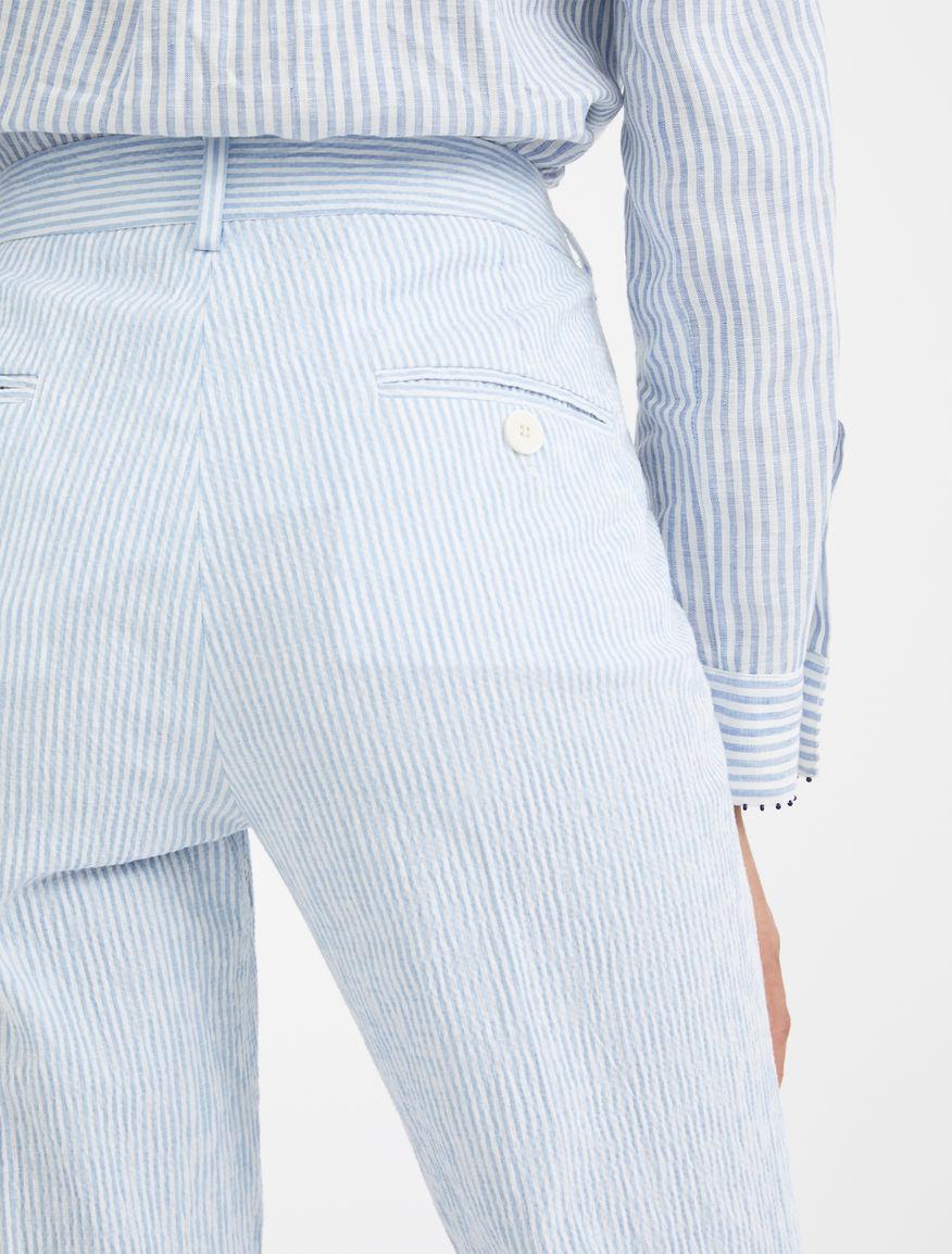 Linen and cotton seersucker trousers Weekend Maxmara