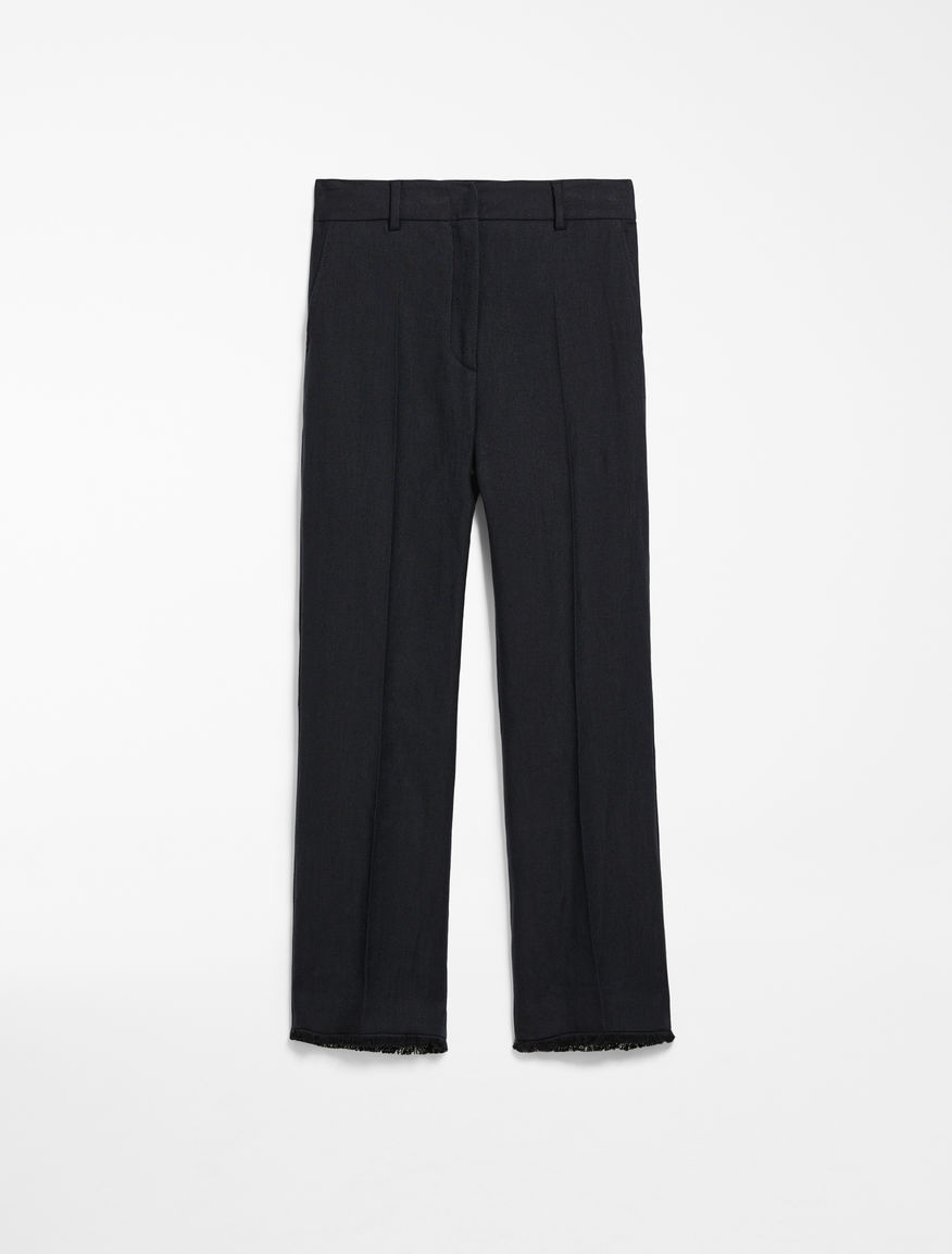 Linen and cotton twill trousers Weekend Maxmara