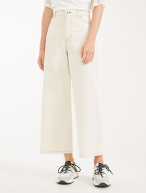 Jeans cropped in bull di cotone Weekend Maxmara
