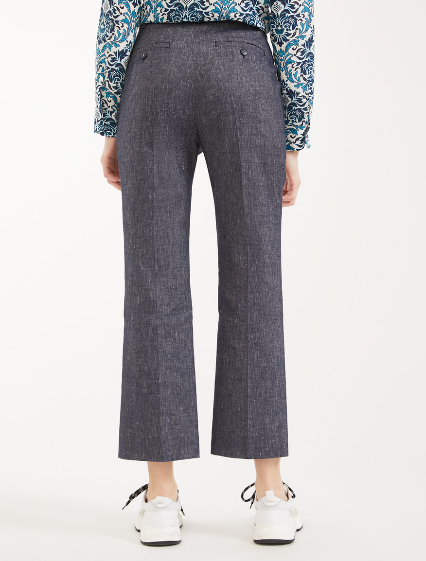 Cotton and linen trousers Weekend Maxmara