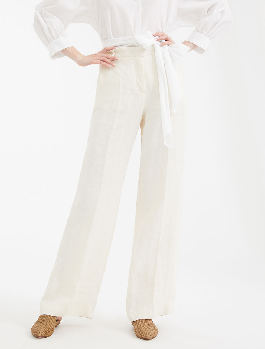 Linen canvas trousers Weekend Maxmara