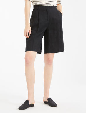 Linen canvas Bermuda shorts Weekend Maxmara