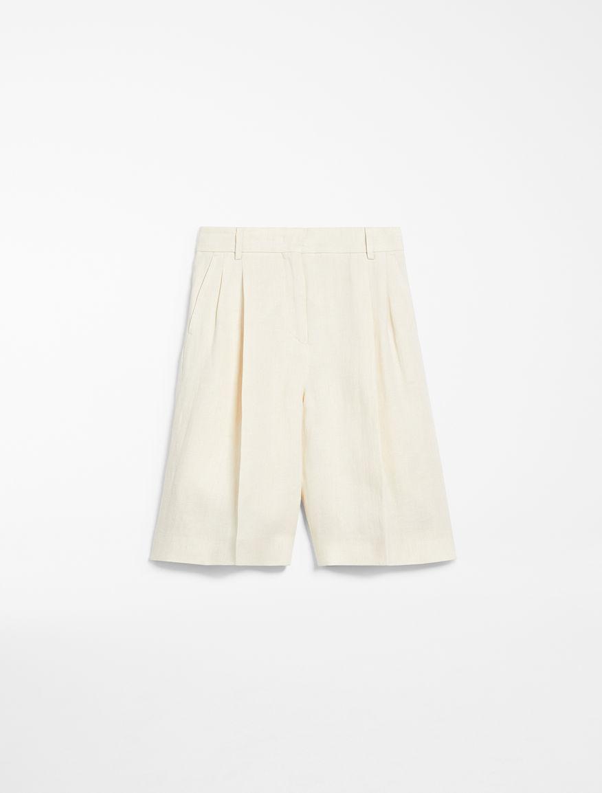 Linen canvas Bermuda shorts Weekend Maxmara