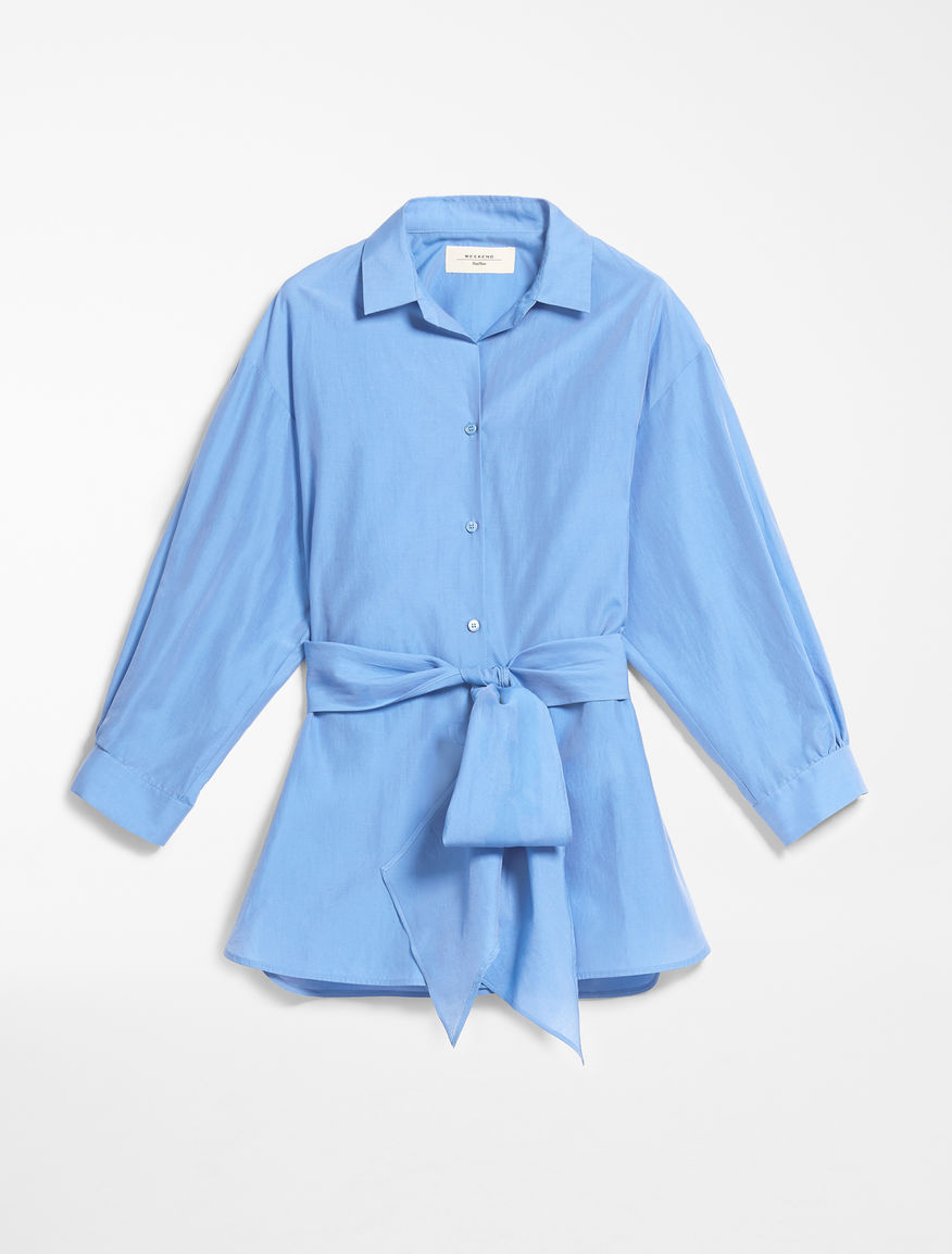 Silk and cotton canvas shirt Weekend Maxmara