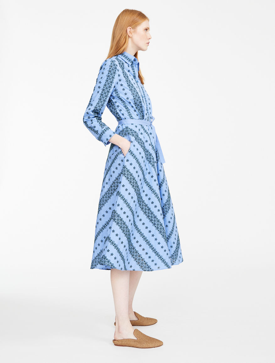 Embroidered poplin dress Weekend Maxmara