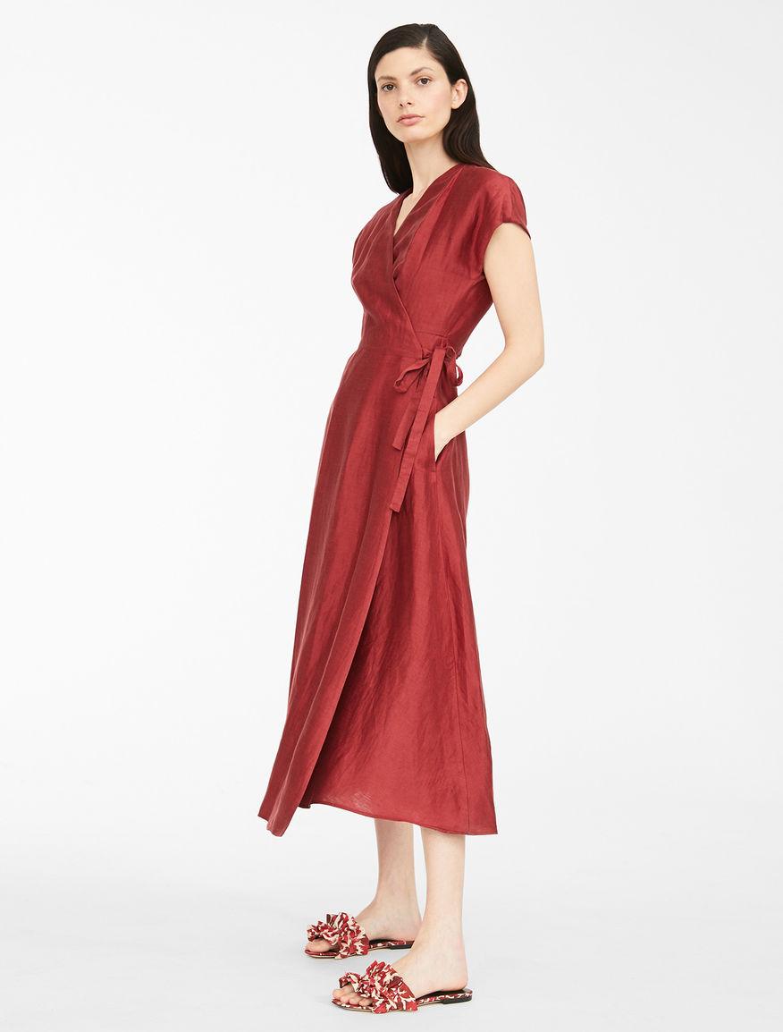 Dress in silk and linen satin Weekend Maxmara