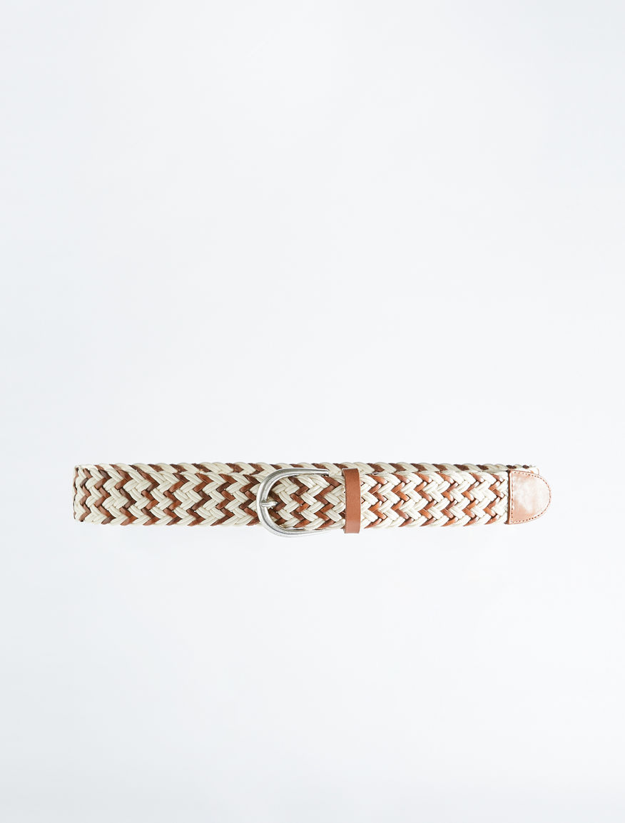Leather and cotton woven belt Weekend Maxmara