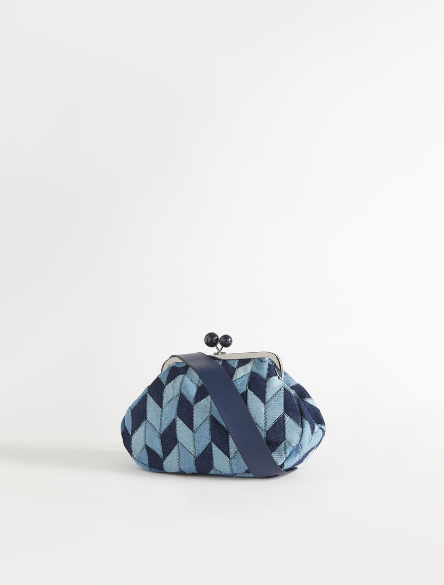 Medium Pasticcino Bag in patchwork denim Weekend Maxmara