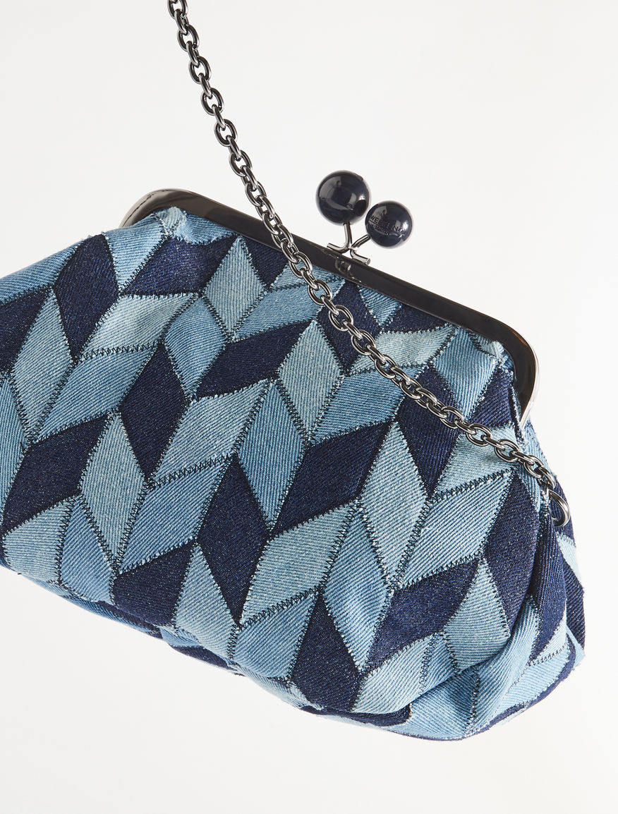 Medium Pasticcino Bag in patchwork denim Weekend Maxmara