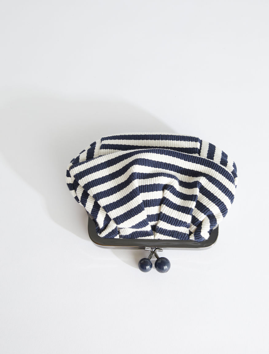 Mini Pasticcino Bag in striped cotton Weekend Maxmara