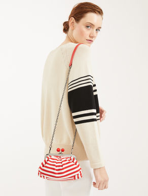 Pasticcino Bag mini in cotone rigato Weekend Maxmara