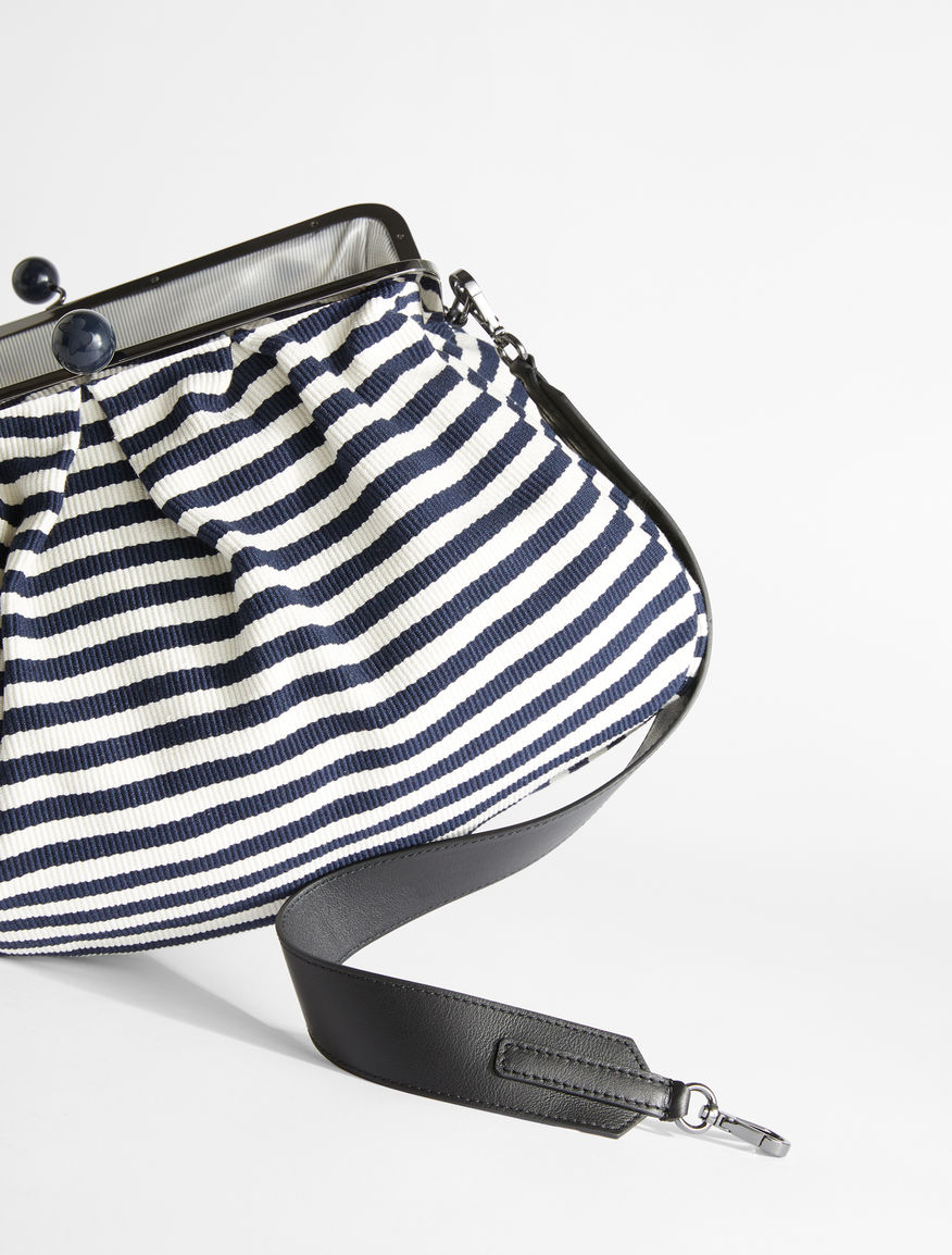 Maxi Pasticcino Bag in striped cotton Weekend Maxmara