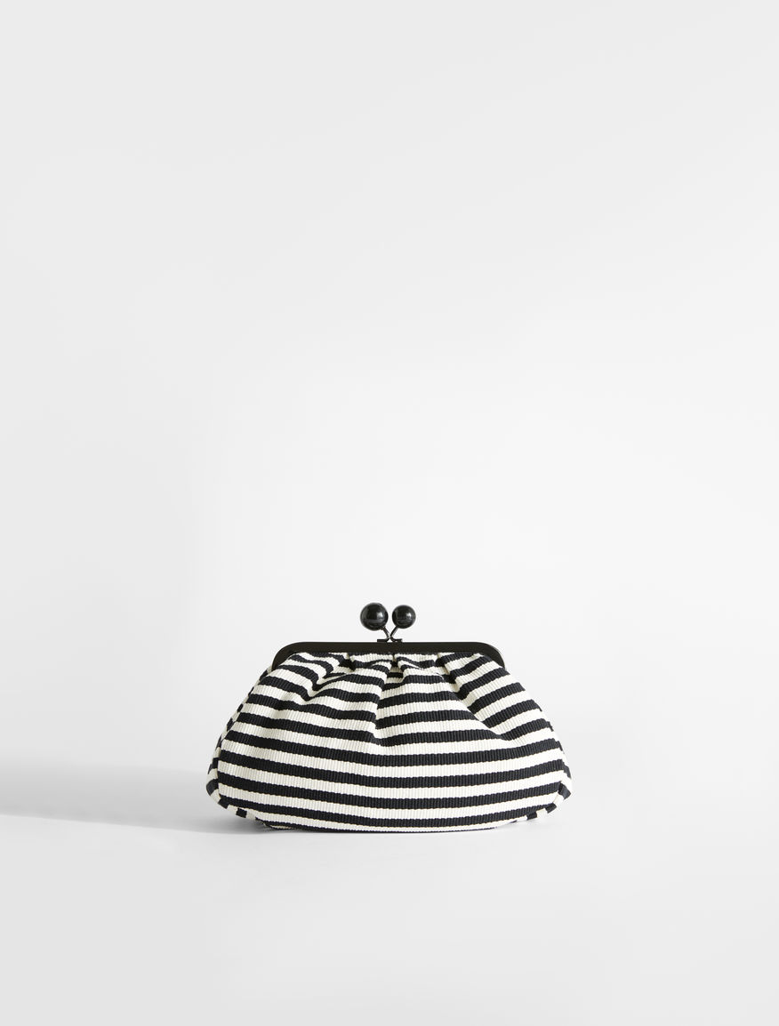 Medium Pasticcino Bag in striped cotton Weekend Maxmara