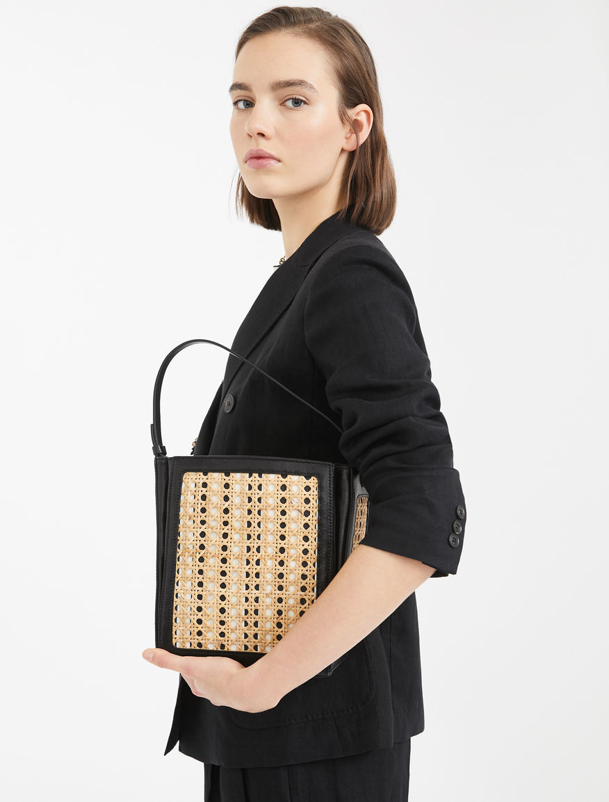 Straw and leather bucket bag Weekend Maxmara