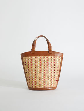 Straw and leather shopper bag Weekend Maxmara