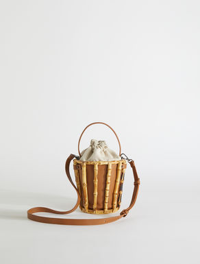 Bucket bag in leather and bamboo Weekend Maxmara
