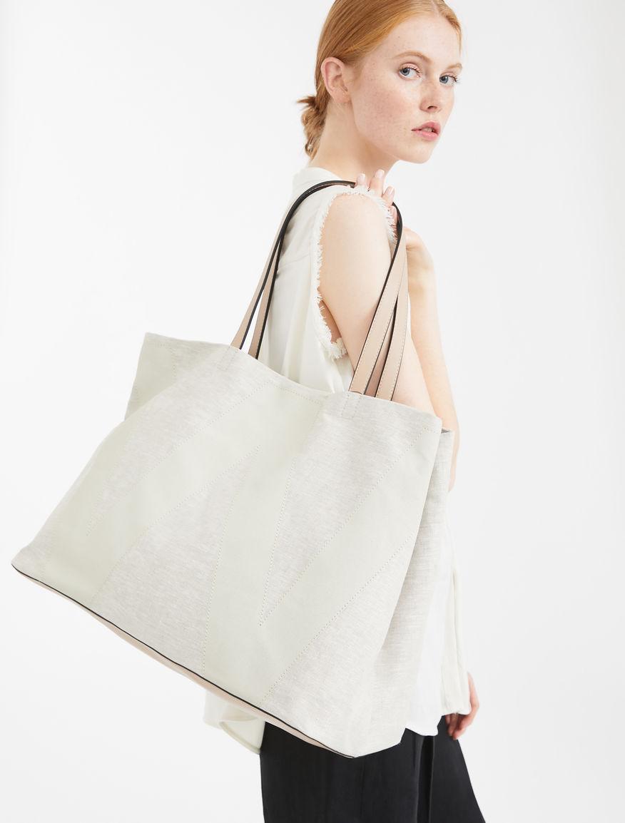 Linen canvas shopper bag Weekend Maxmara