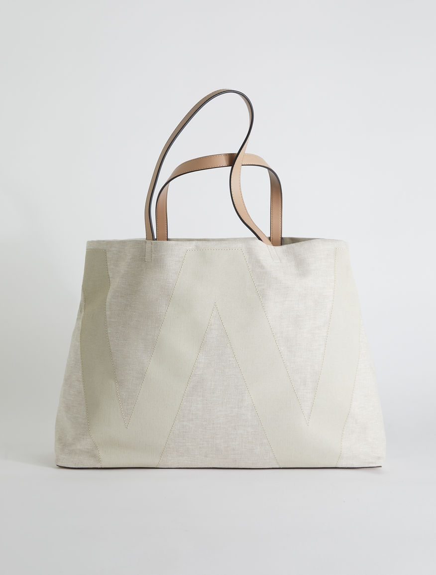 Linen canvas shopper bag Weekend Maxmara