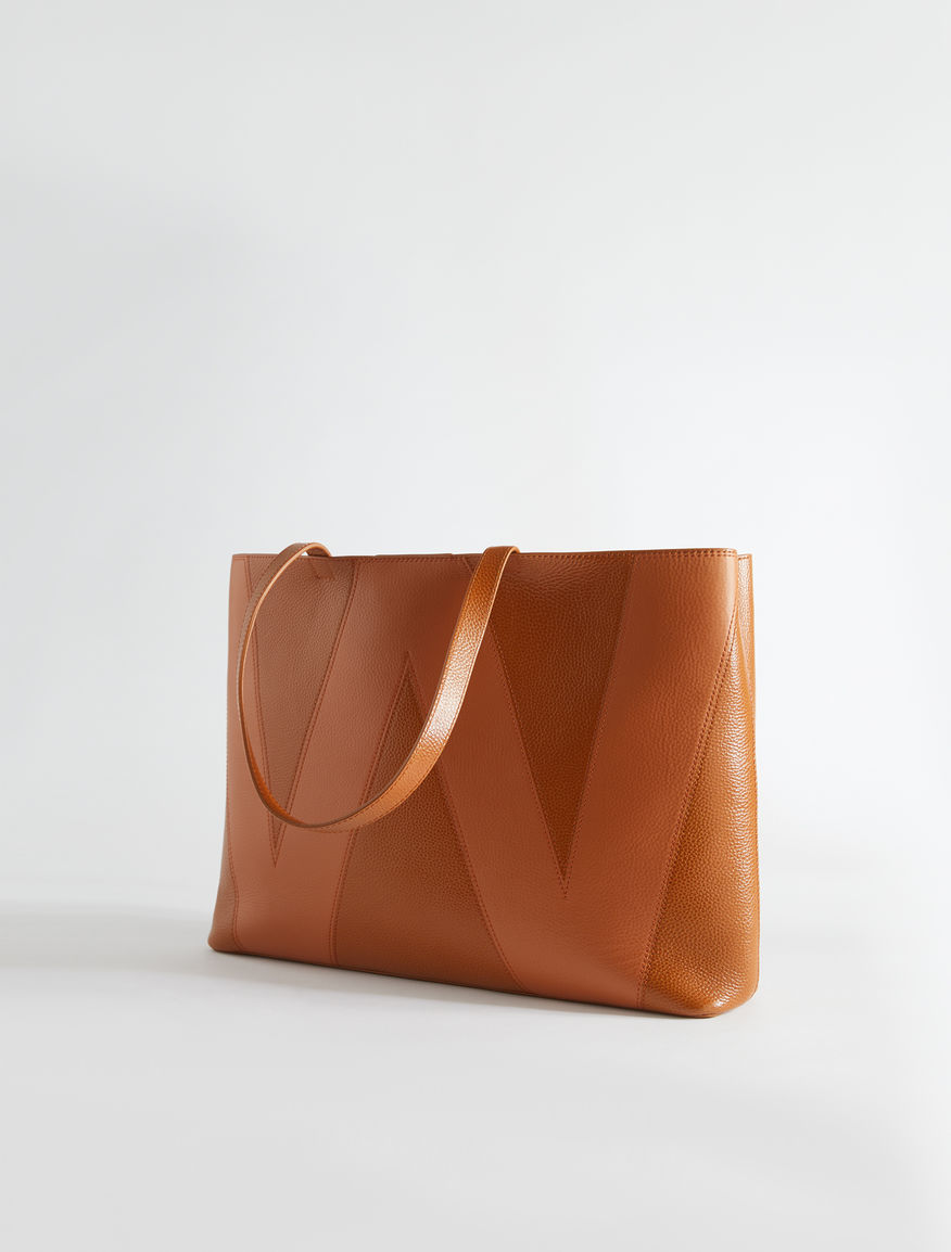 Deerskin-print leather tote Weekend Maxmara