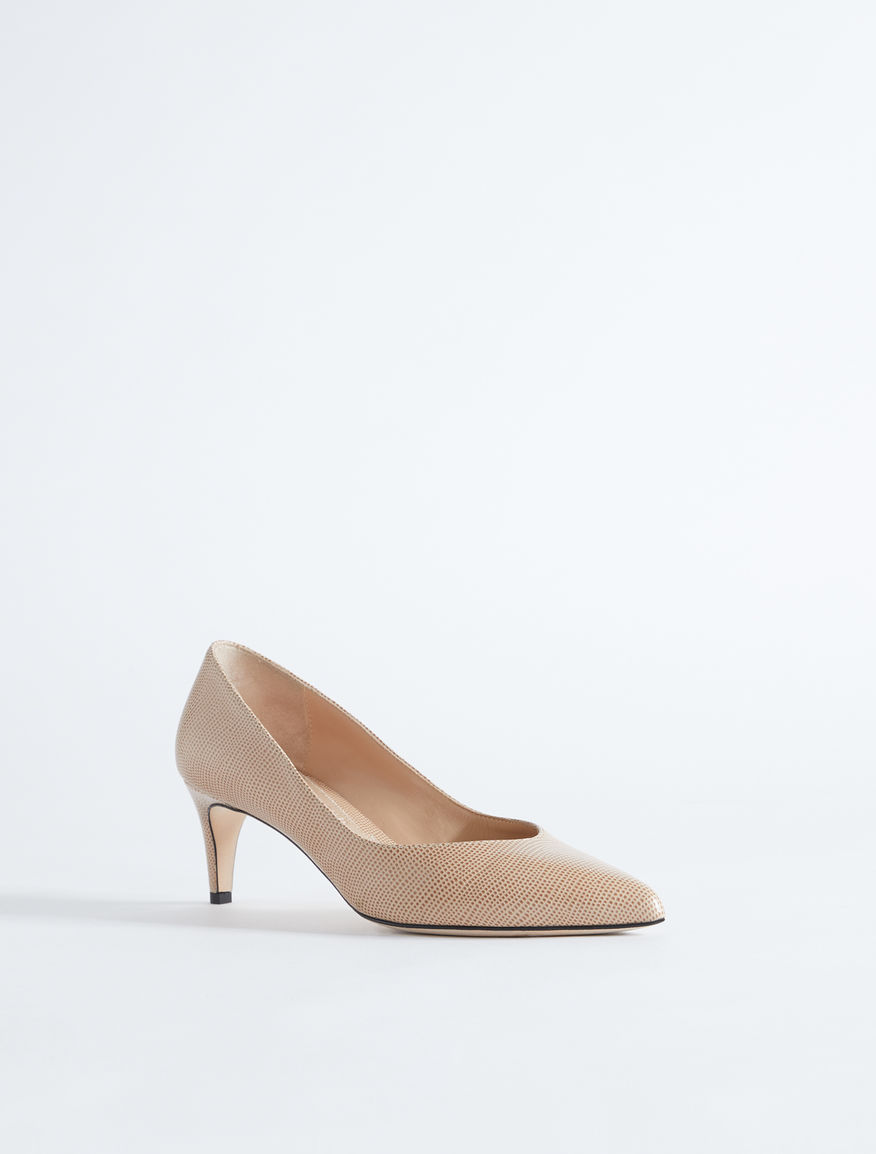 Lizard print leather court shoe Weekend Maxmara