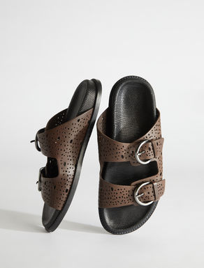 Openworked leather sandals Weekend Maxmara