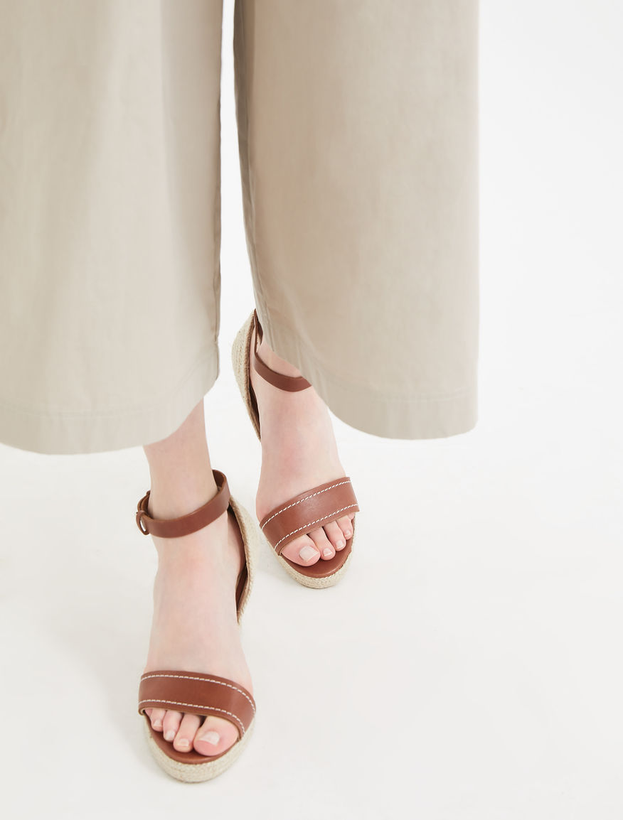 Leather and rope sandals Weekend Maxmara
