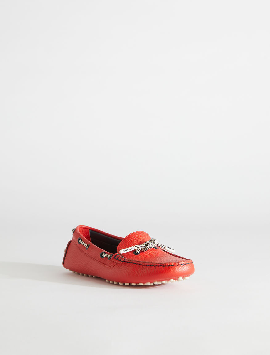 Deer print leather moccasin Weekend Maxmara