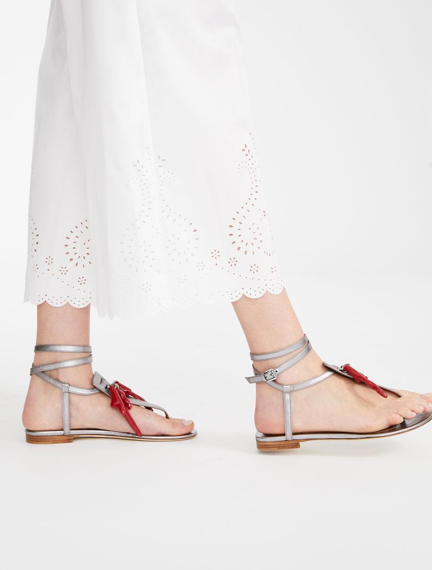 Metallic nappa leather sandals Weekend Maxmara