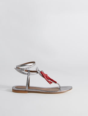 Metallic nappa leather sandals Weekend Maxmara