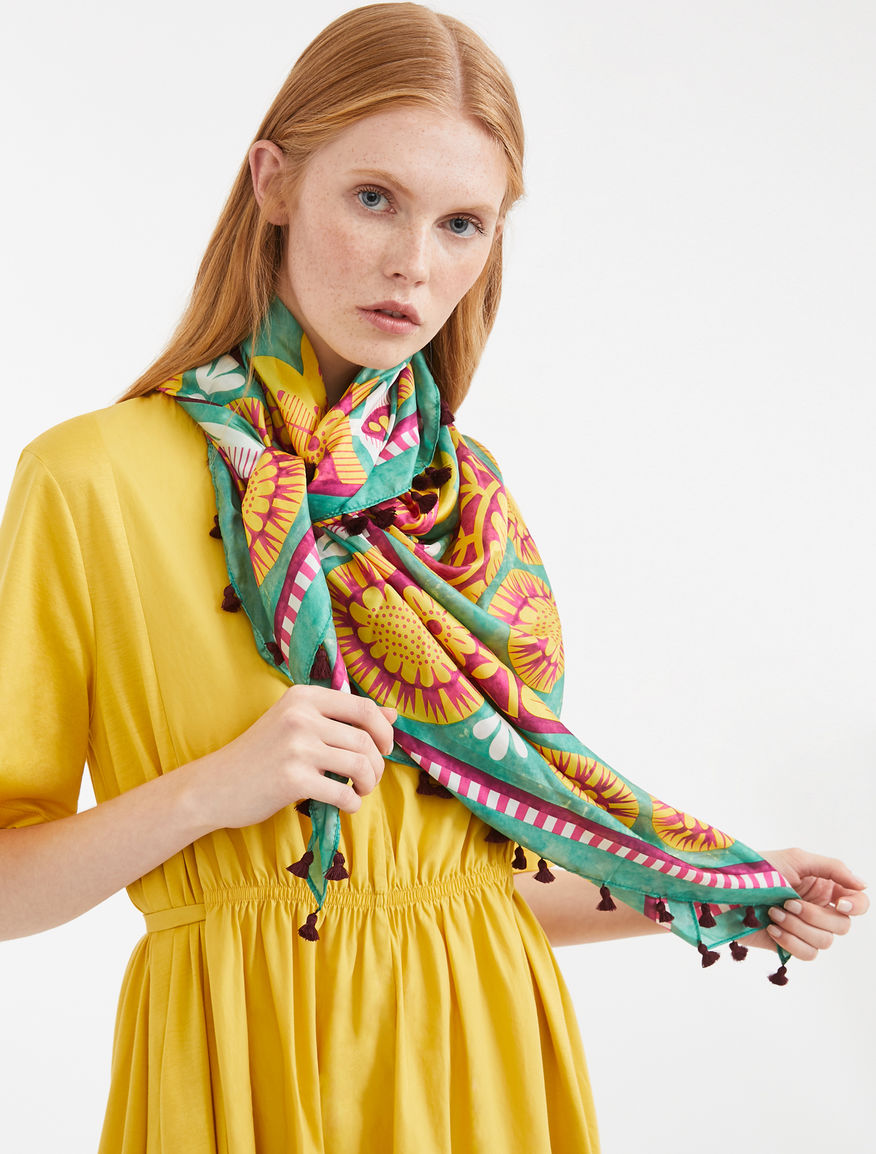 Silk shawl with tassels Weekend Maxmara