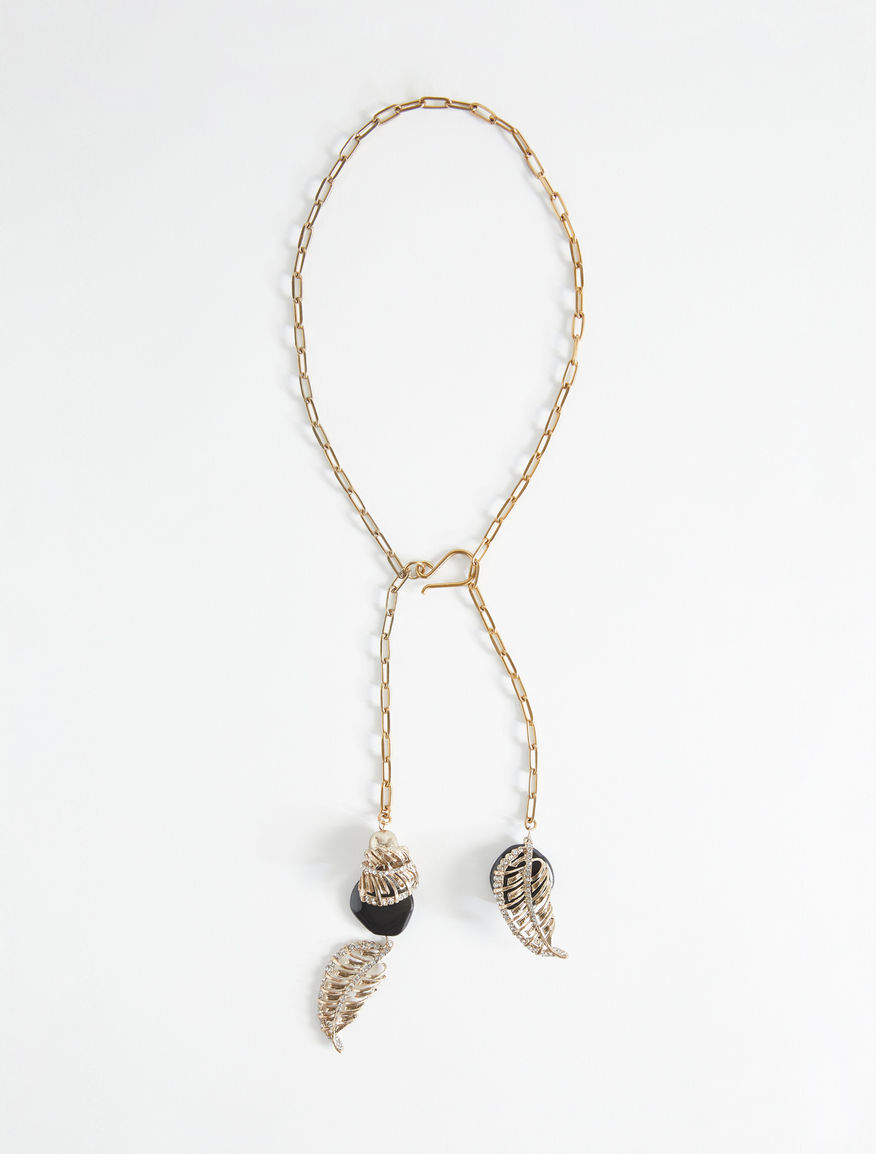 Metal necklace with leaves Weekend Maxmara