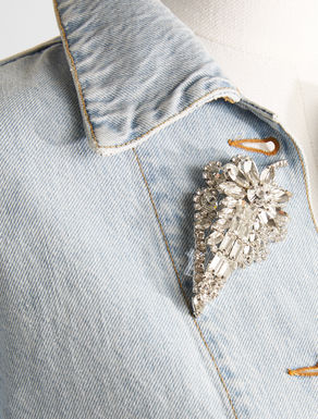 Metal brooch with rhinestones Weekend Maxmara