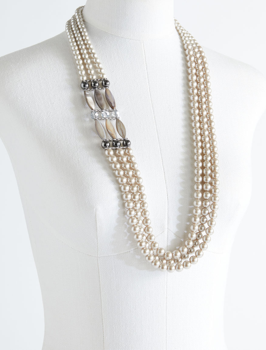 Three-strand beaded necklace Weekend Maxmara