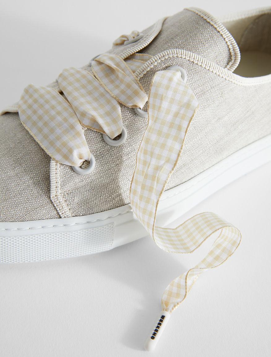 Linen canvas trainers Weekend Maxmara
