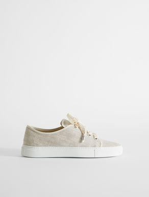 Sneaker in tela di lino Weekend Maxmara