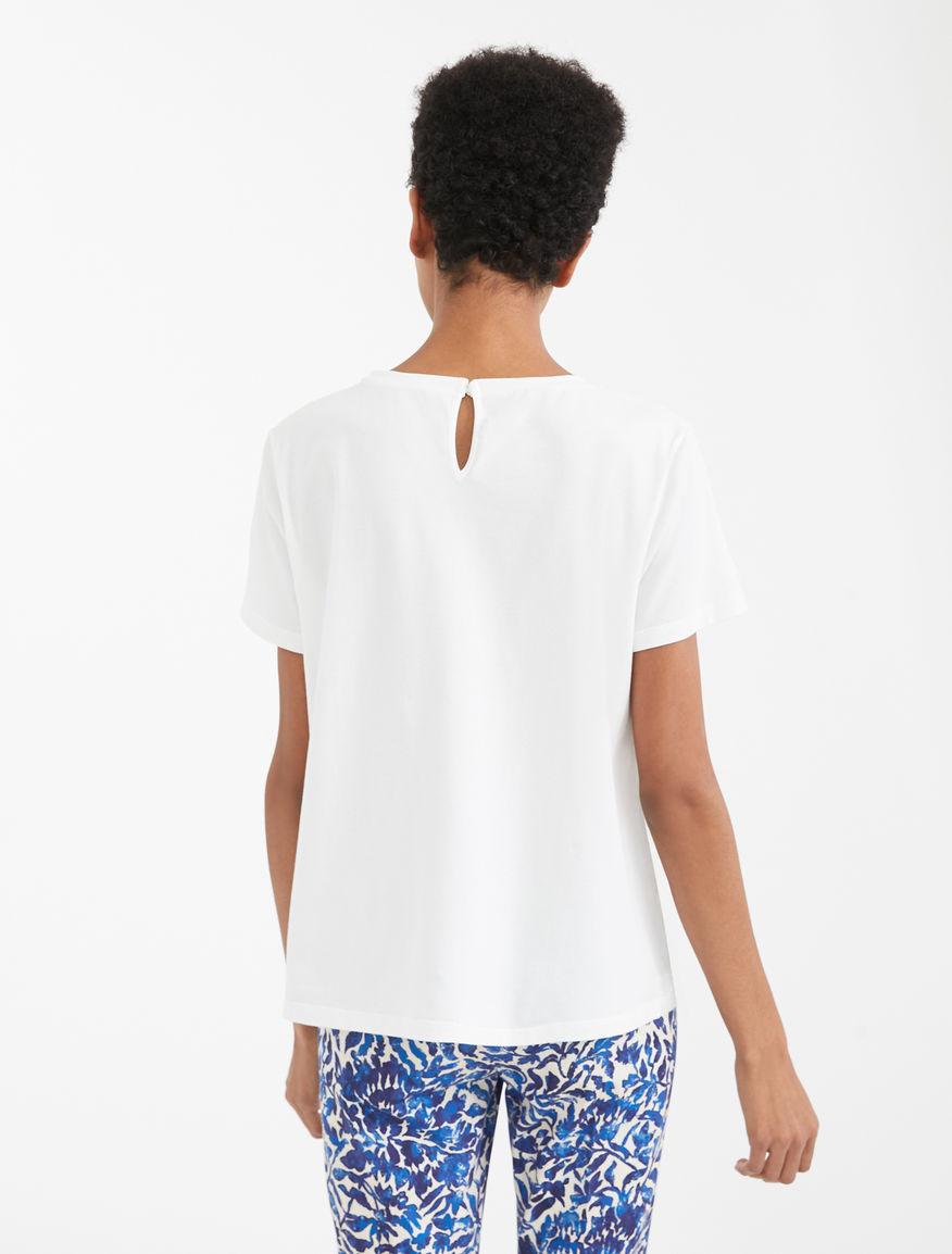 Linen and cotton jersey T-shirt Weekend Maxmara