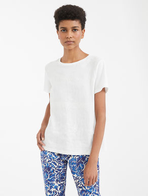 Linen and cotton jersey T-shirt Weekend Maxmara
