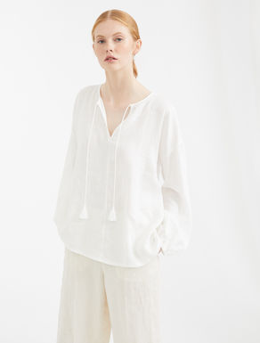 Linen and cotton jersey shirt Weekend Maxmara